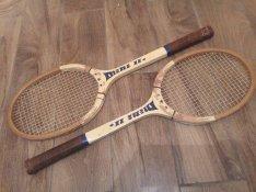 1 db retro teniszütő tenisz ütő festék kicsit lepergett a neve ugyan m