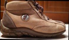 24-es Siesta barna bőr fűzős kis cipő (BTH - 15 cm)