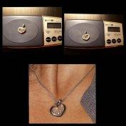 2,2 cm Új Ezüst Szív medál 3 kővel, Női sziv medál ezüst női medál