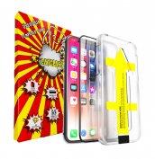 3D üvegfólia felhelyezőkeret iphone 11Pro 12Pro X XS XR XS Max 7 8