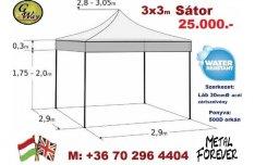 3x3 m Pavilon sátor Árusító Rendezvény Piaci Sör Kiállítási Szervíz