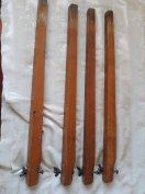 4db csavaros régi fajta asztal láb, tömör fa