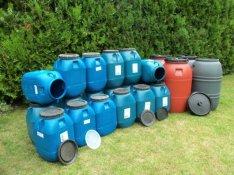 65-220 L Műanyag Hordó Ingyenes Kiszállításal Több darabnál kedvezmény