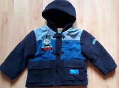 86-os Thomas kék vastag polár kapucnis kabát