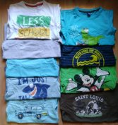 9 db-os 116-os márkás rövidujjú póló csomag