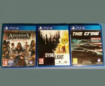 AC Syndicate, Dying Light, The Crew (PS4)