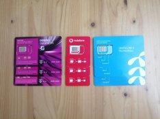 Aktivált, regisztrált SIM kártya, Vodafone, Telenor, Telekom