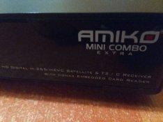 Amiko Mini Combo Extra Műholdvevő Földi Vevő Kábel Tv