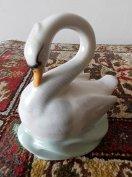 Antik porcelán hattyú Drasche