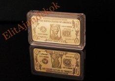 Aranyozott amerikai dollár tömbök
