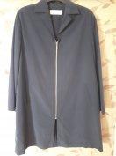 Átmeneti kabát sötétkék trench coat divatos oversized Zara Nubu COS