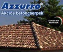 Azzurro beton tetőcserép Szuper Akciós áron!!