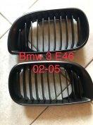 BMW E46 3 díszrács / vese / hűtőrács fekete 2002-2005 - új -