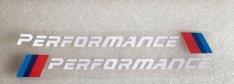 BMW M Performance matrica fehér 20x1,8