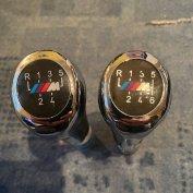 BMW M cróm bőr váltógomb 5, 6 sebességes