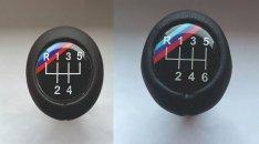 BMW M csík bőr váltógomb 5, 6 sebességes