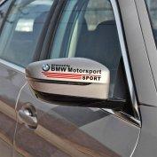 BMW tükör matrica Motor Sport fekete, fehér