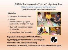 Babamasszázs oktató és masszőr online képzés
