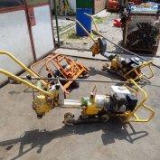 Benzinmotoros síncsavarozó síncsiszoló fúró sínvágó Robel 30.82 vasút