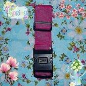 Bőrönd heveder pánt számzáras rózsaszín pink