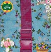 Bőrönd heveder pink rózsaszín csatos pánt