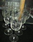 Boros-pezsgős pohárkészlet,6 darabos új állapotban