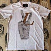 Criminal Damage póló LV Louis Vuitton leopard minta L