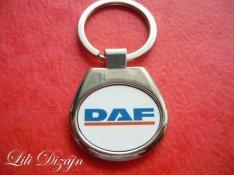 DAF ovális fém kulcstartó