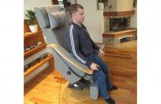 Elektromos motoros TV néző felállás segítő rehabilitáció relax fotel