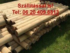 Esztergált rönkfa rúdfa faoszlop . Szállítással is ! 06204096813