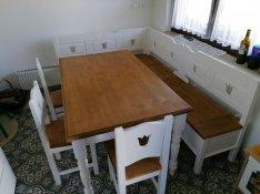 Étkező garnitúra asztal pad konyha sarokpad