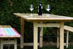 Extra széles sörpad garnitúra,kerti bútor-új