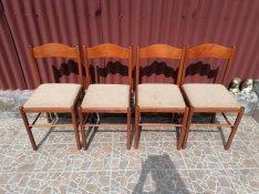 Fa és fém étkező székek