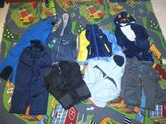 Fiú ruhacsomag, kabát, overál, pulcsi