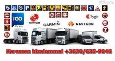 GPS navigáció Legújabb térkép Kamion Busz Autó Motor Igo Tomtom Garmin