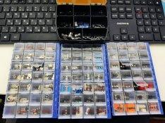Gamer egér mikrokapcsolók ill. encoderek + pár kábel, esetleg talpak é