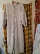 Gyapjú, kézzel kötött hosszú kabátka S-M méret