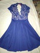 Gyönyörű kék koktél ruha