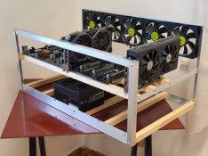 H510 Pro BTC+ alaplapnak való RIG keret! - Profi Minőségben gyártva