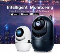 HD Wifi IP kamera forgatható mozgásérzékelős éjjellátó auto követés