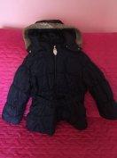 H&M sötétkék kabát 110/116