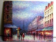 Hangulatos Párizs, exkluzív eredeti festmény