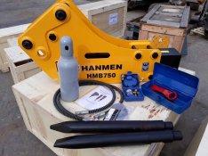 Hanmen Hmb750 Törőfej Bontókalapács JCB 3CX 4CX Volvo Komatsu CAT