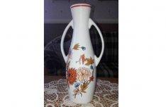 Hatalmas nagyméretű virágmintás hollóházi füles padló váza