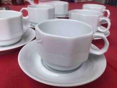 Hollóházi porcelán kávés-, teáskészlet