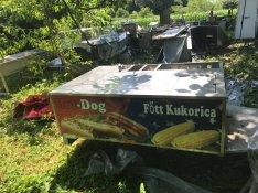 Hot-dog hotdog utánfutó hot dog kocsi