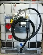 IBC tartály, gázolaj szivattyúval, raktárról