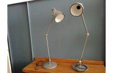 Ipari stilusú, szürke asztali íróasztali lámpa