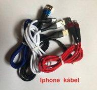 Iphone USB töltő és adatkábel 2.4A 1 méter Fekete, fehér piros kék