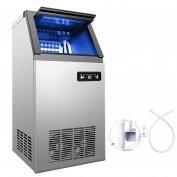 Jég jégkocka készítő gép 50kg/24óra Inox Nano fény aut tisztítás működ